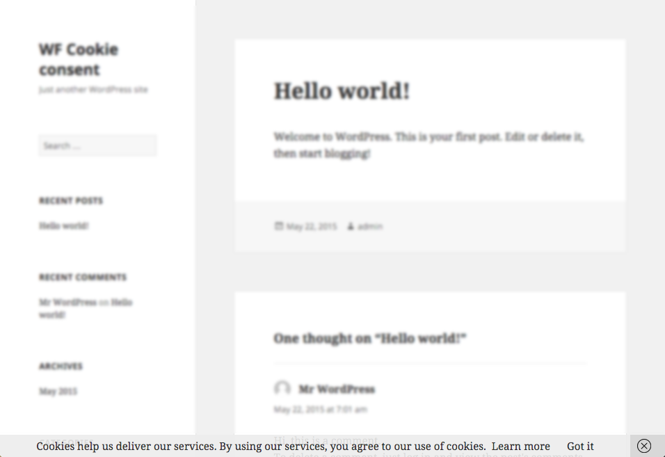 Download WF Cookie Consent 1.1.4 – Free WordPress Plugin