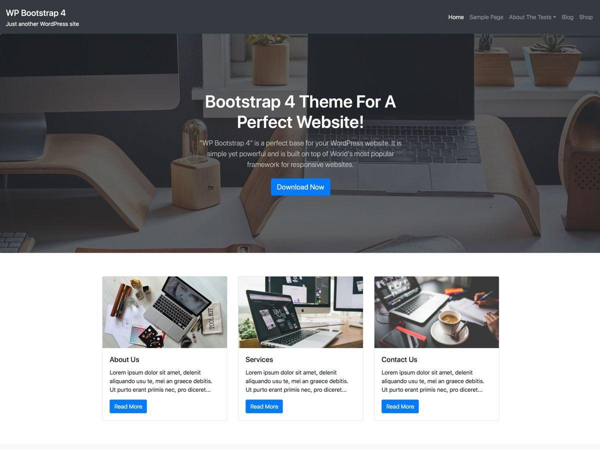 Download WP Bootstrap 4 1.0.9 – Free WordPress Theme