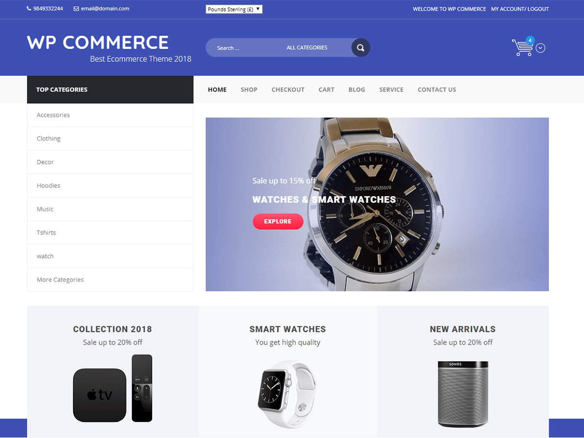 Download WP Commerce 1.0.5 – Free WordPress Theme