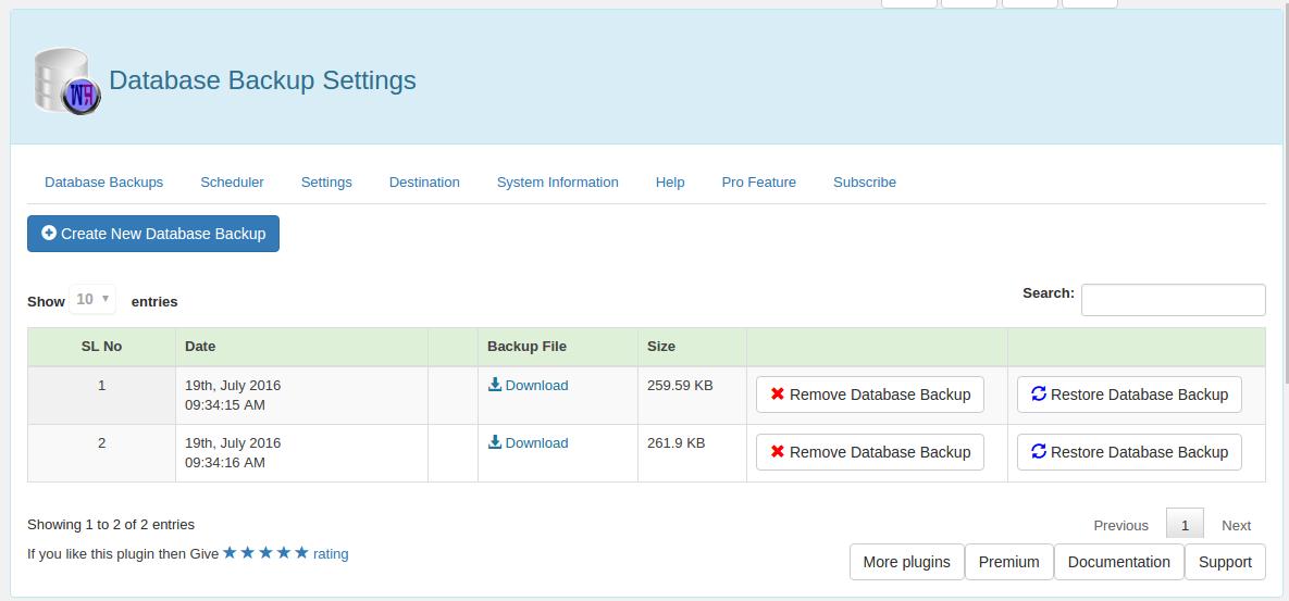 Download WP Database Backup 4.6.2 – Free WordPress Plugin