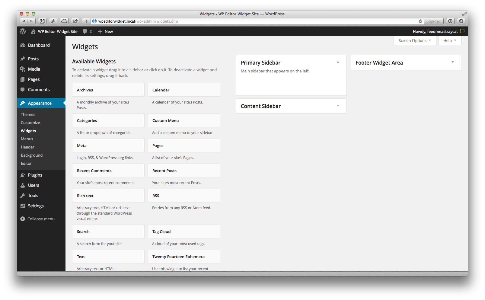 Download WP Editor Widget 0.6.0 – Free WordPress Plugin