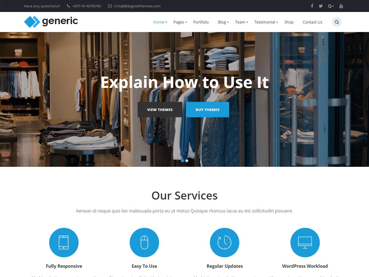 Download WP Generic 1.0.8 – Free WordPress Theme
