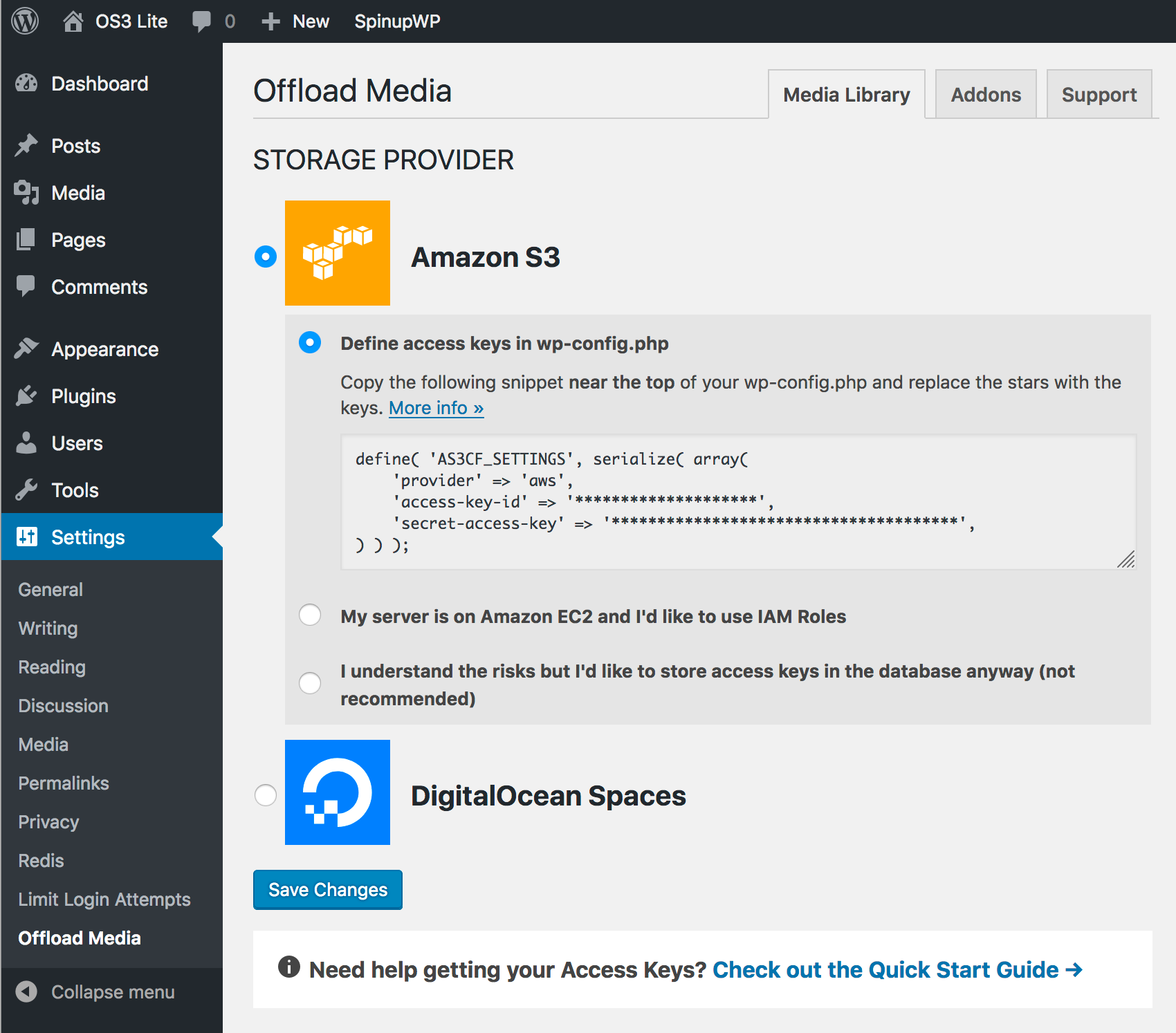 Download WP Offload Media Lite for Amazon S3 and DigitalOcean Spaces 2.0 – Free WordPress Plugin