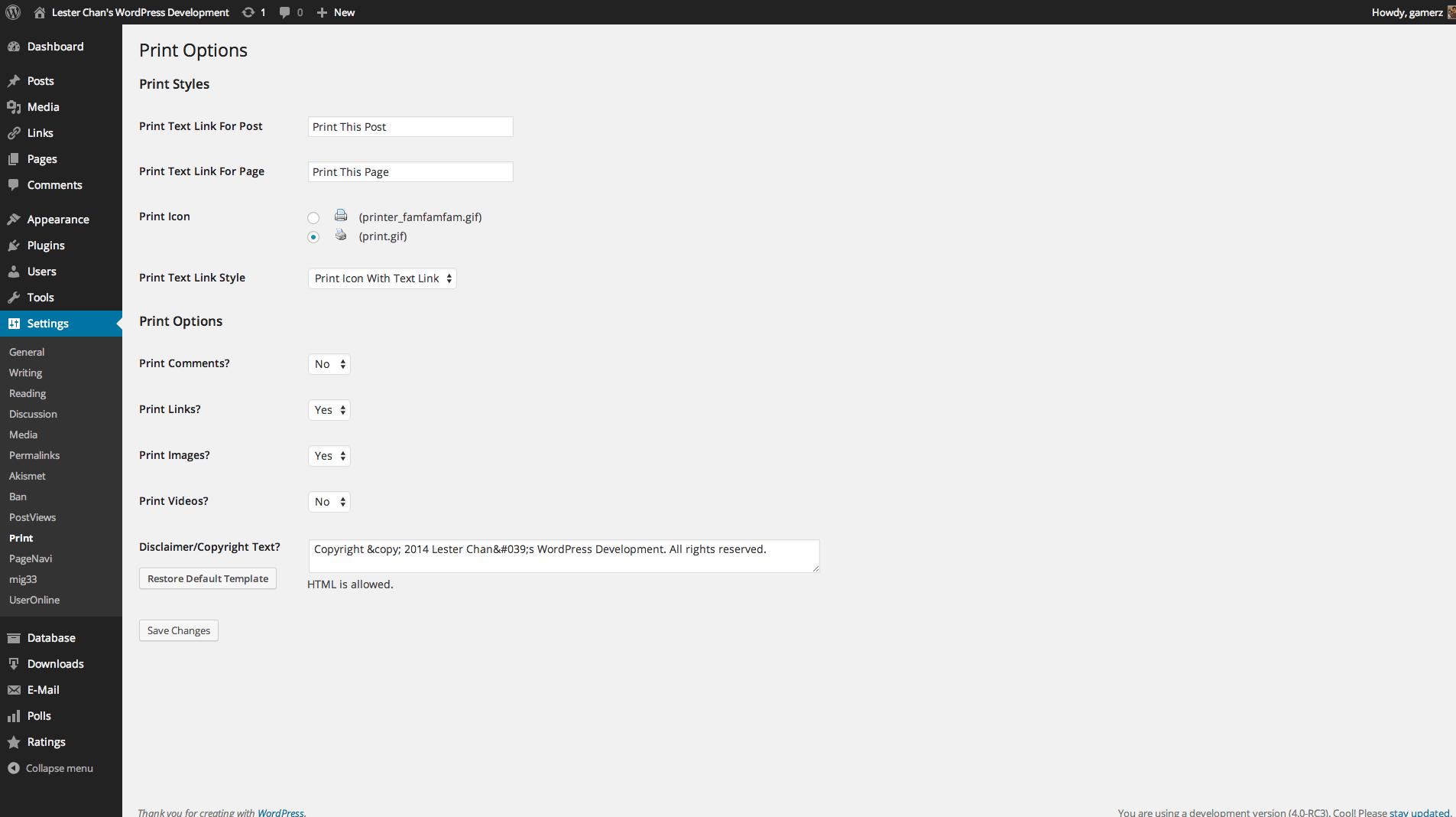 Download WP-Print 2.58 – Free WordPress Plugin