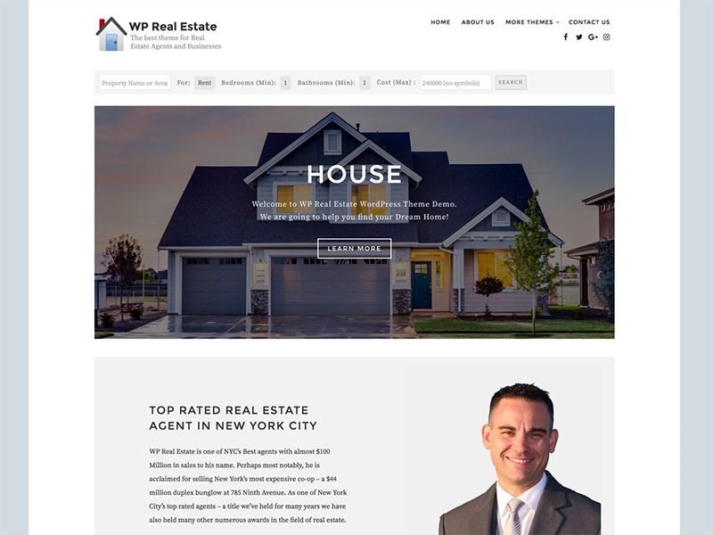 Download WP Real Estate 1.2.1 – Free WordPress Theme