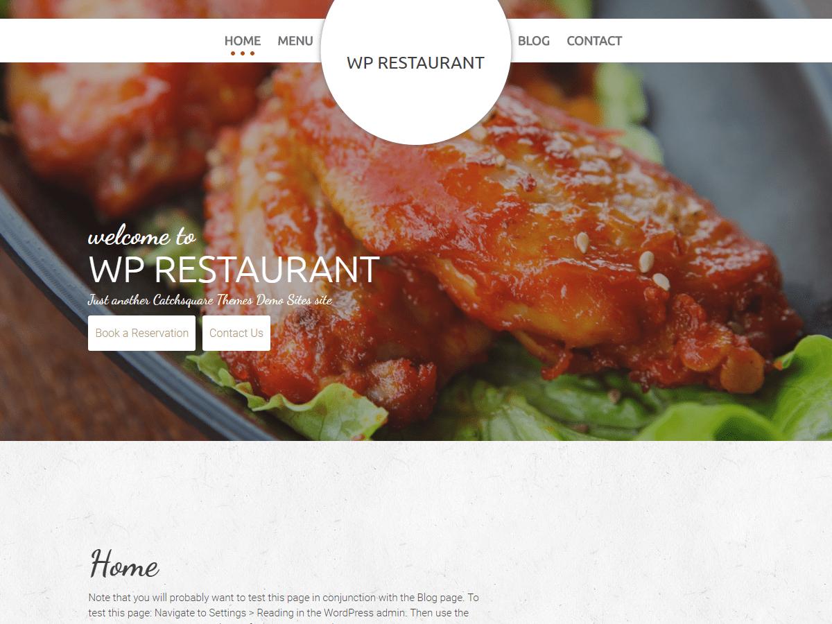 Download WP Restaurant 1.0.18 – Free WordPress Theme