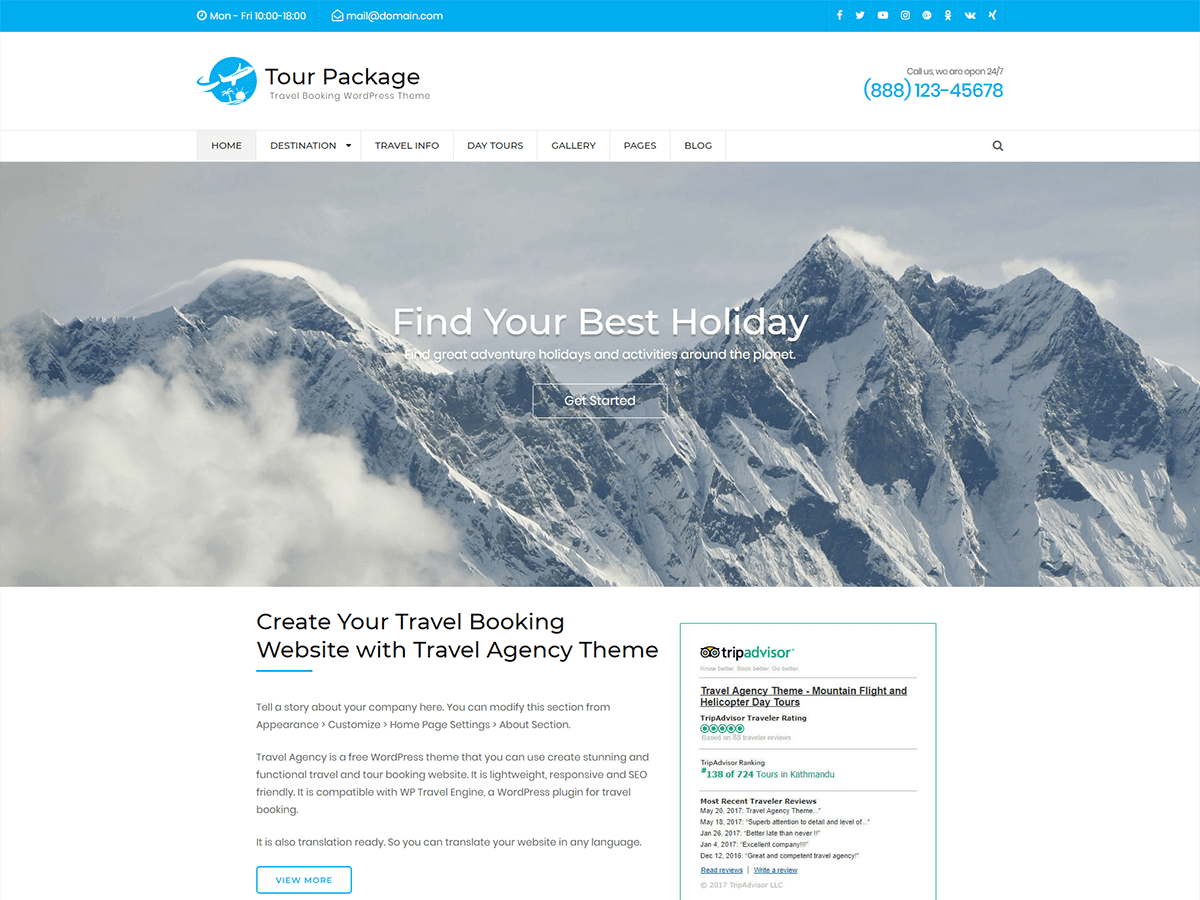 Download WP Tour Package 1.0.0 – Free WordPress Theme