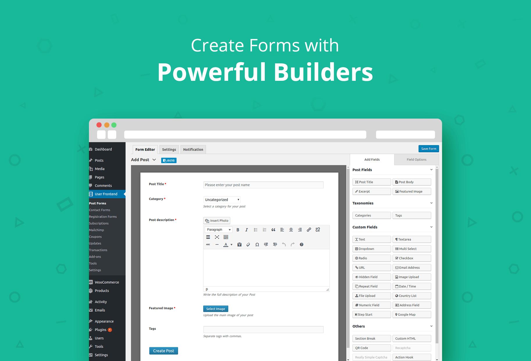 Download WP User Frontend – Membership, Profile, Registration & Post Submission Plugin for WordPress 2.9.2 – Free WordPress Plugin