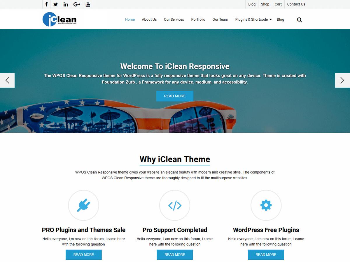 Download WP iClean Responsive 1.2.4 – Free WordPress Theme