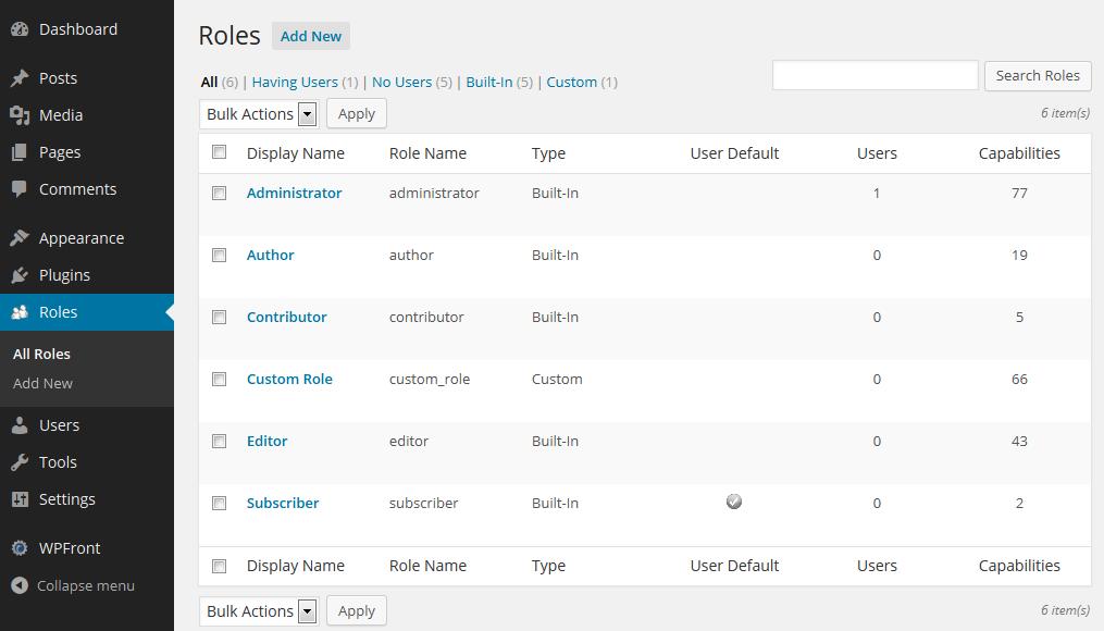 Download WPFront User Role Editor 2.14.1 – Free WordPress Plugin