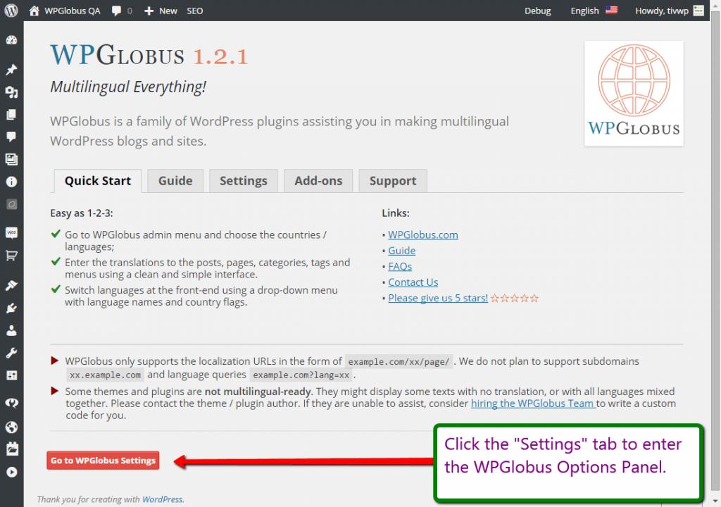 Download WPGlobus – Multilingual Everything! 1.9.16 – Free WordPress Plugin