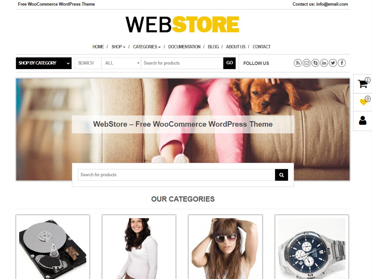 Download WebStore 1.0.1 – Free WordPress Theme