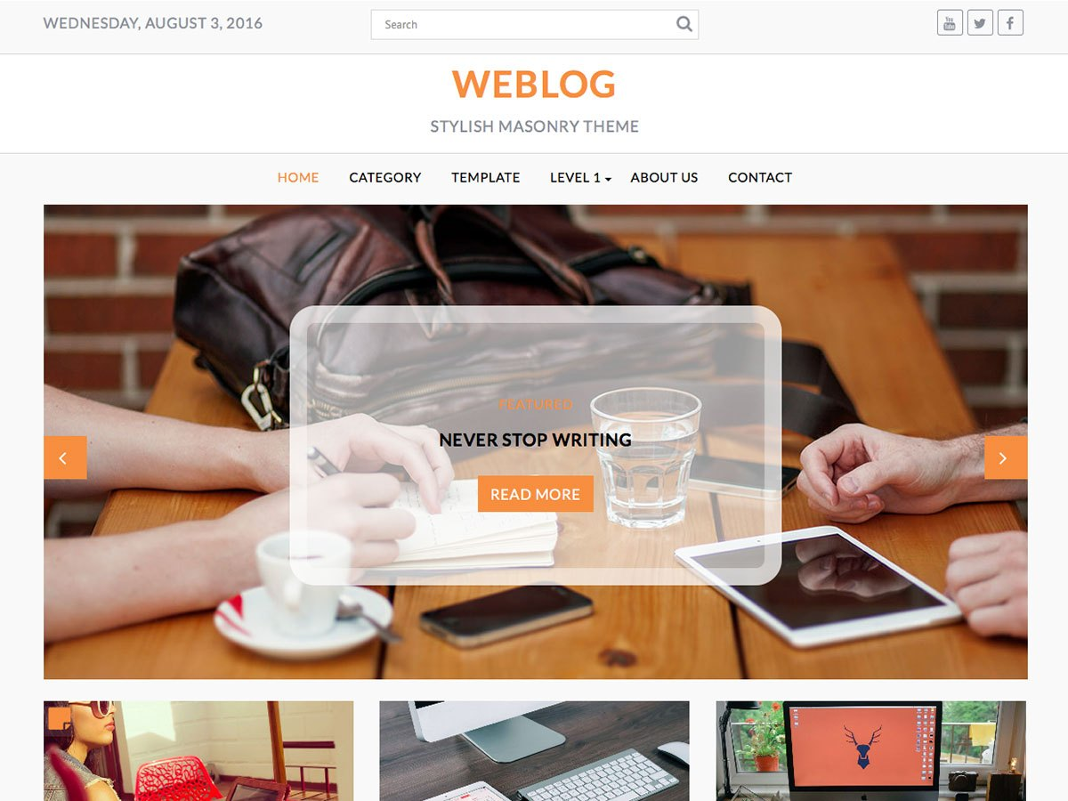 Download Weblog 1.2.1 – Free WordPress Theme