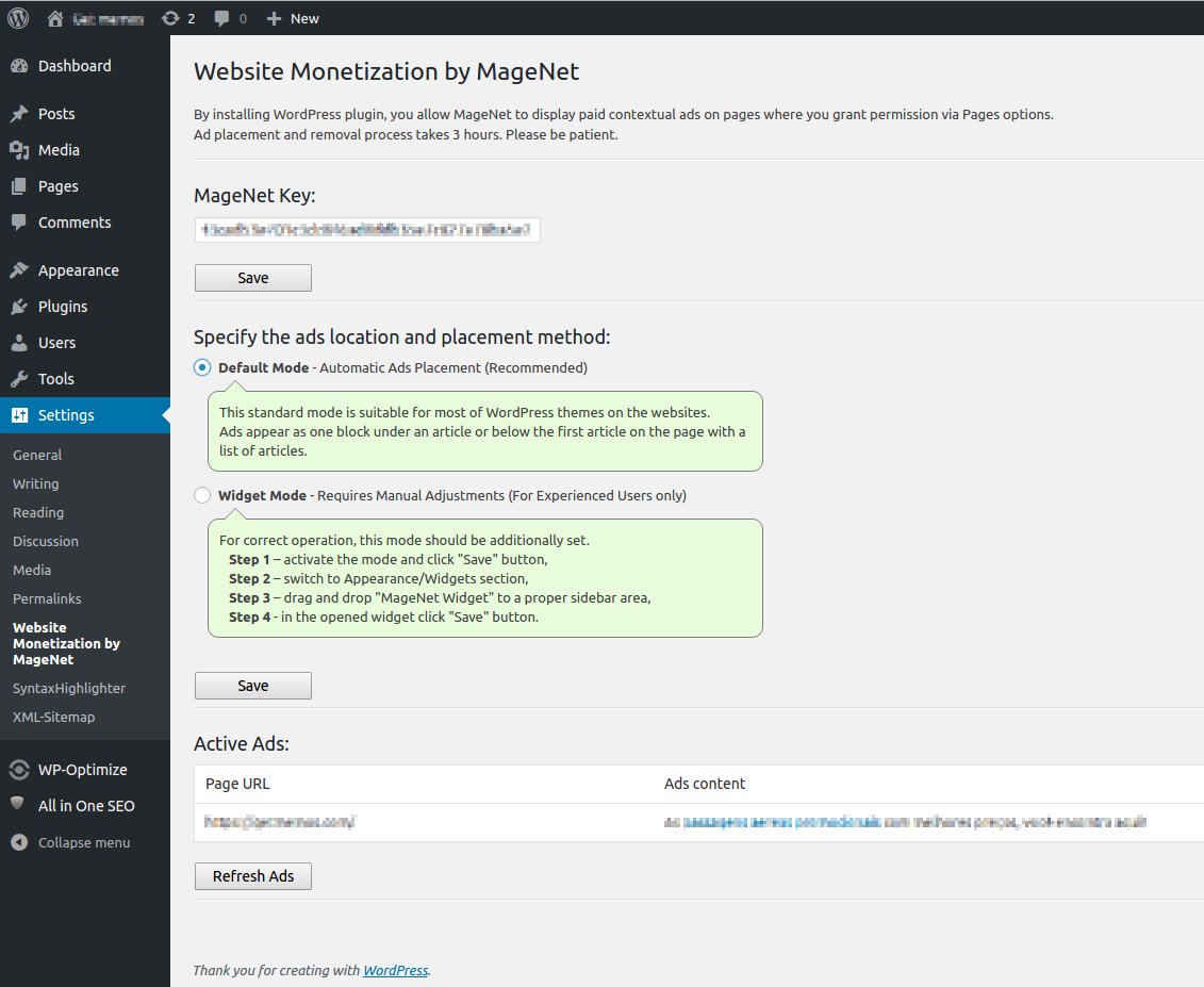 Download Website Monetization by MageNet 1.0.23 – Free WordPress Plugin
