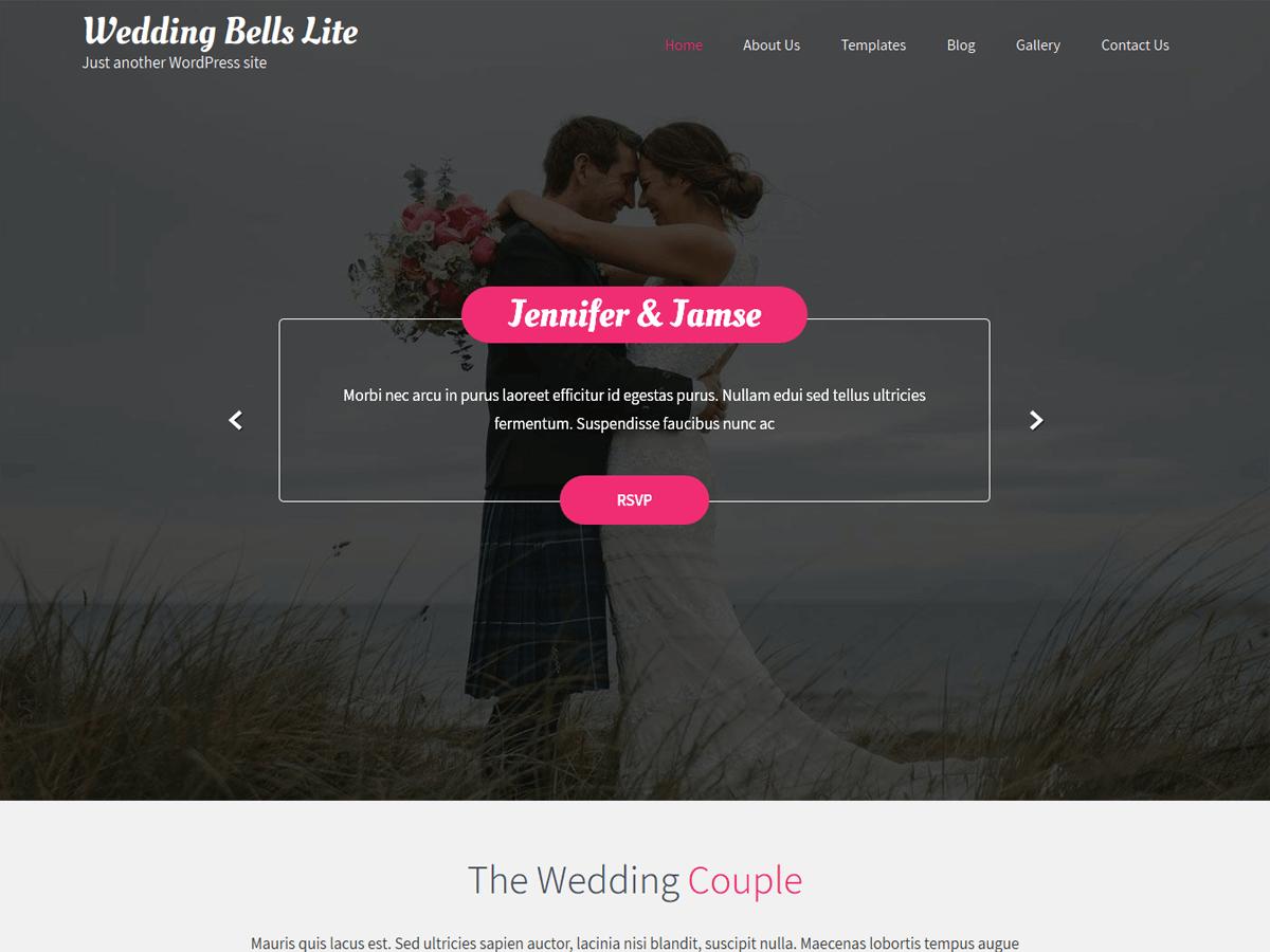 Download Wedding Bells  Lite 1.2 – Free WordPress Theme