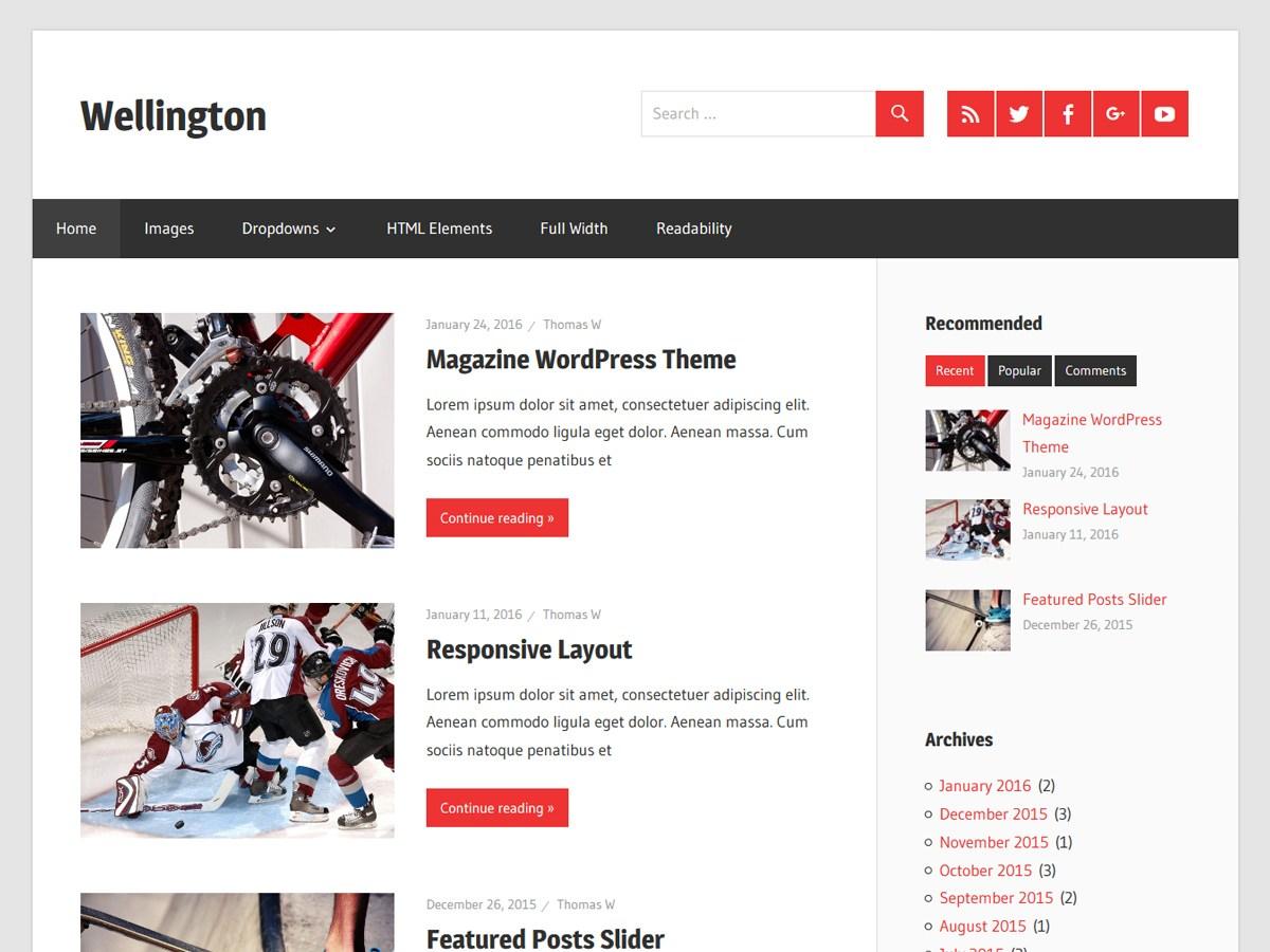 Download Wellington 1.4.1 – Free WordPress Theme