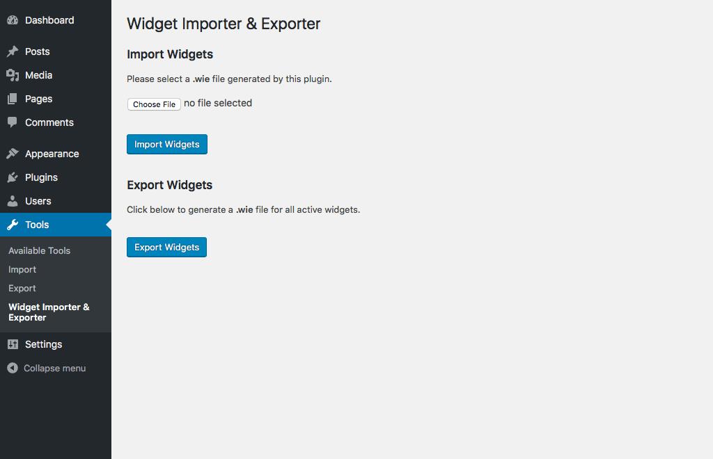 Download Widget Importer & Exporter 1.5.3 – Free WordPress Plugin