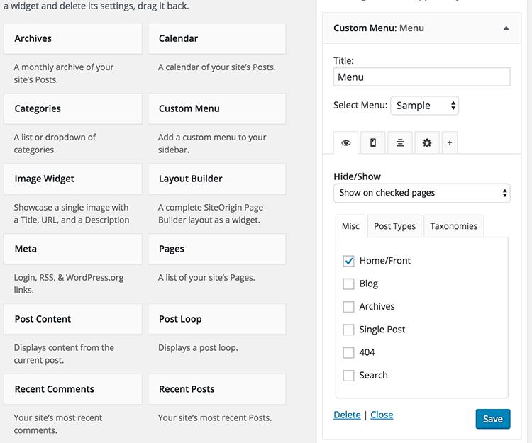 Download Widget Options 3.7.1 – Free WordPress Plugin