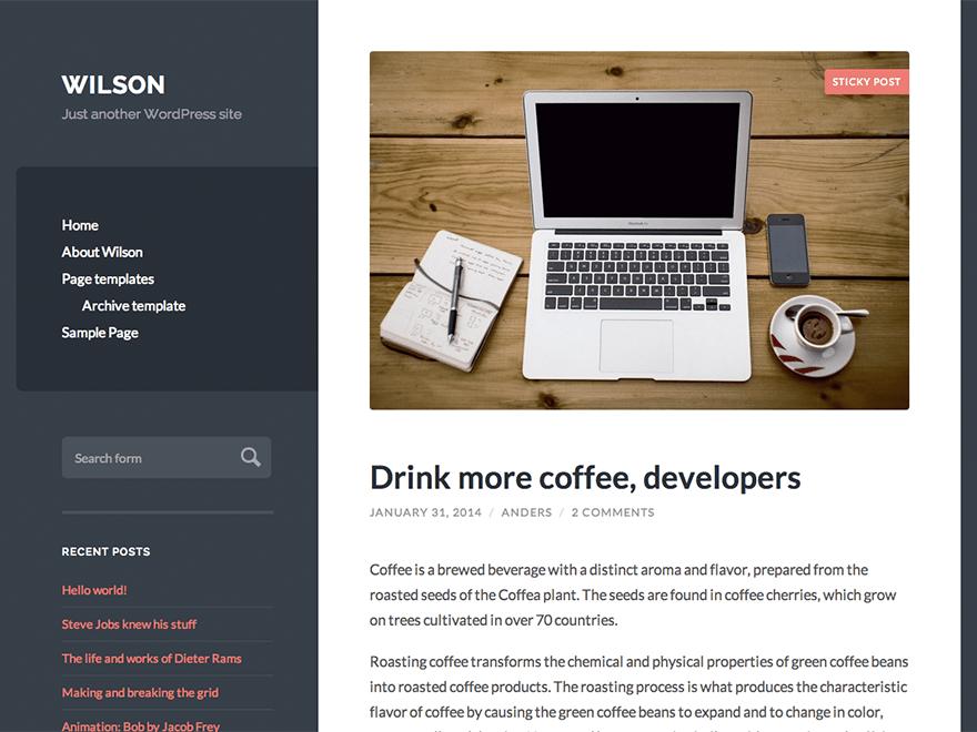 Download Wilson 1.32 – Free WordPress Theme