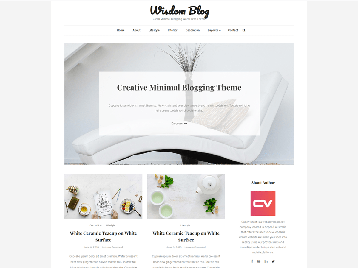 Download Wisdom Blog 1.0.6 – Free WordPress Theme