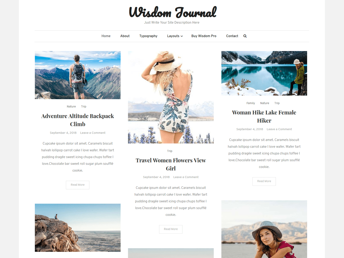 Download Wisdom Journal 1.0.1 – Free WordPress Theme