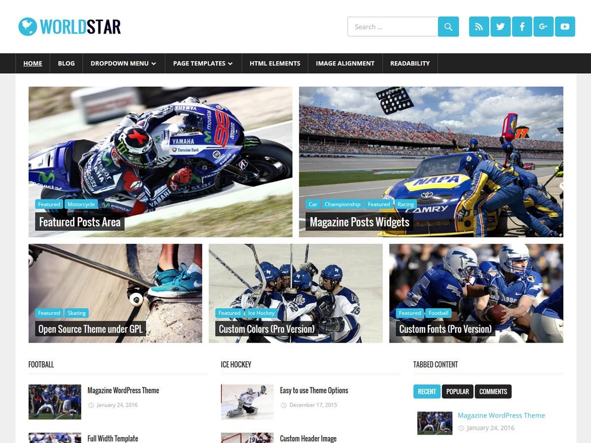 Download WorldStar 1.4.1 – Free WordPress Theme