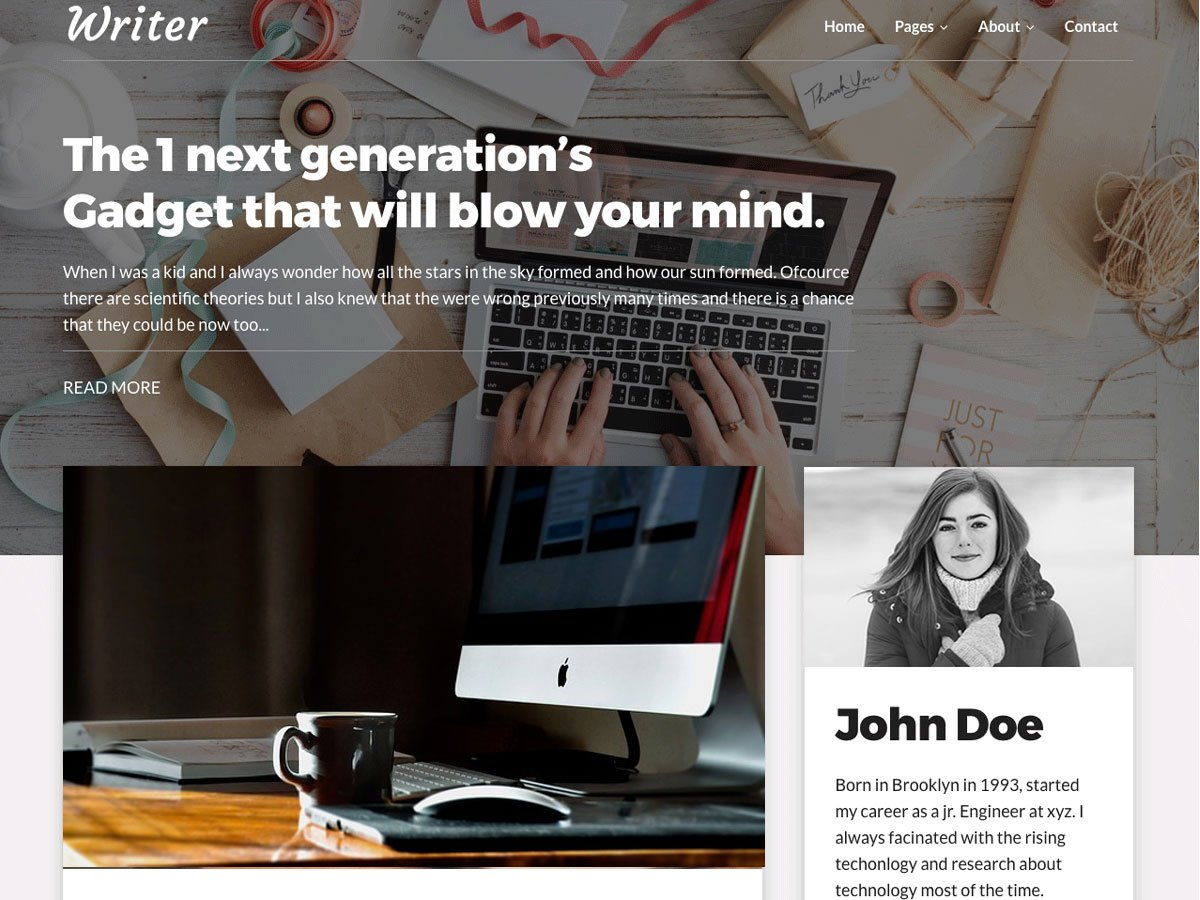 Download Writer Blog 1.1.3 – Free WordPress Theme