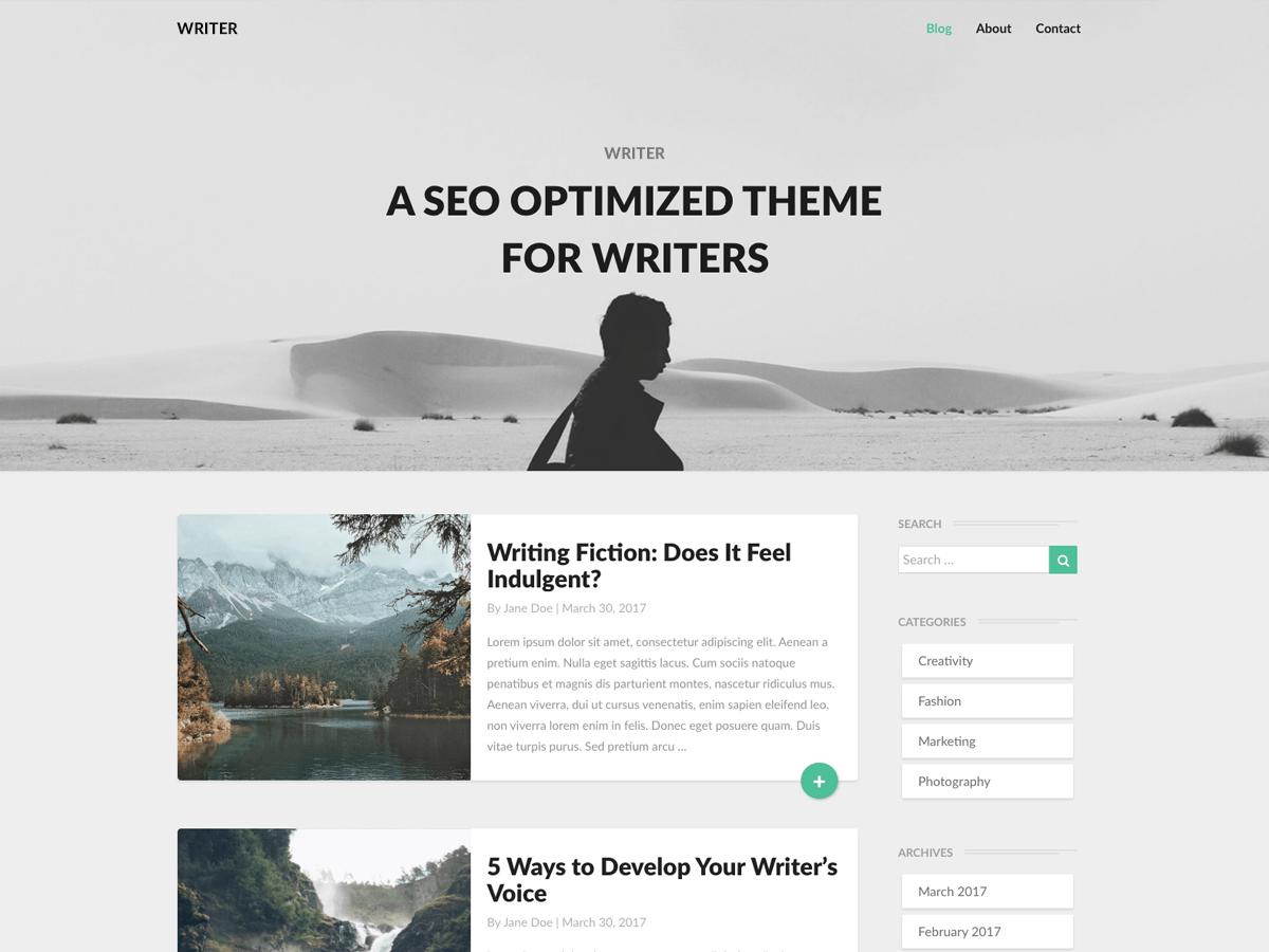Download Writers 4.2 – Free WordPress Theme