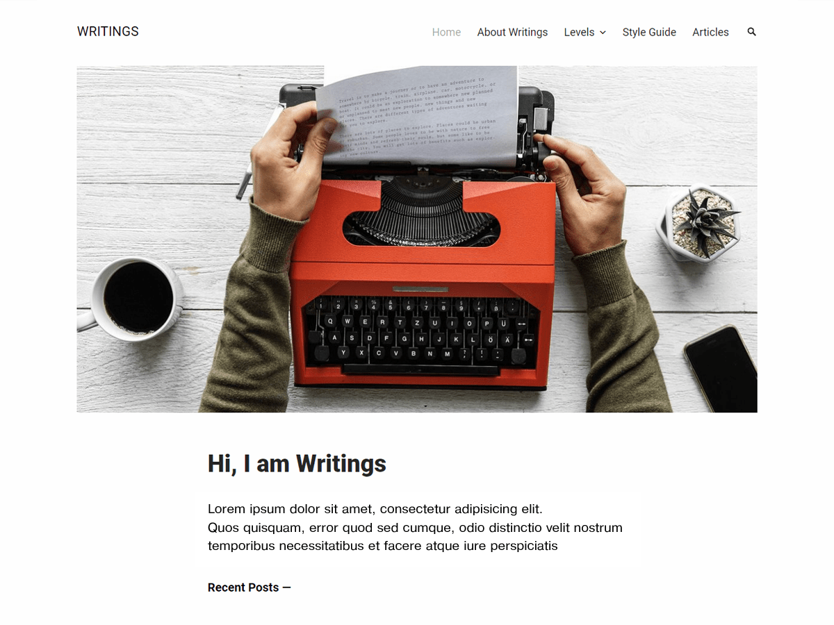 Download Writings 1.1.0 – Free WordPress Theme