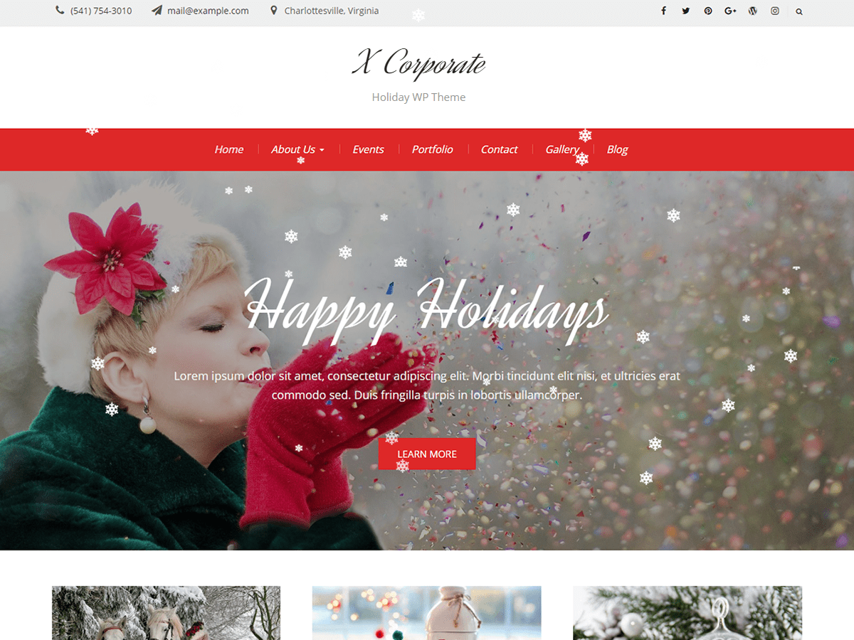 Download X Corporate 1.0.2 – Free WordPress Theme