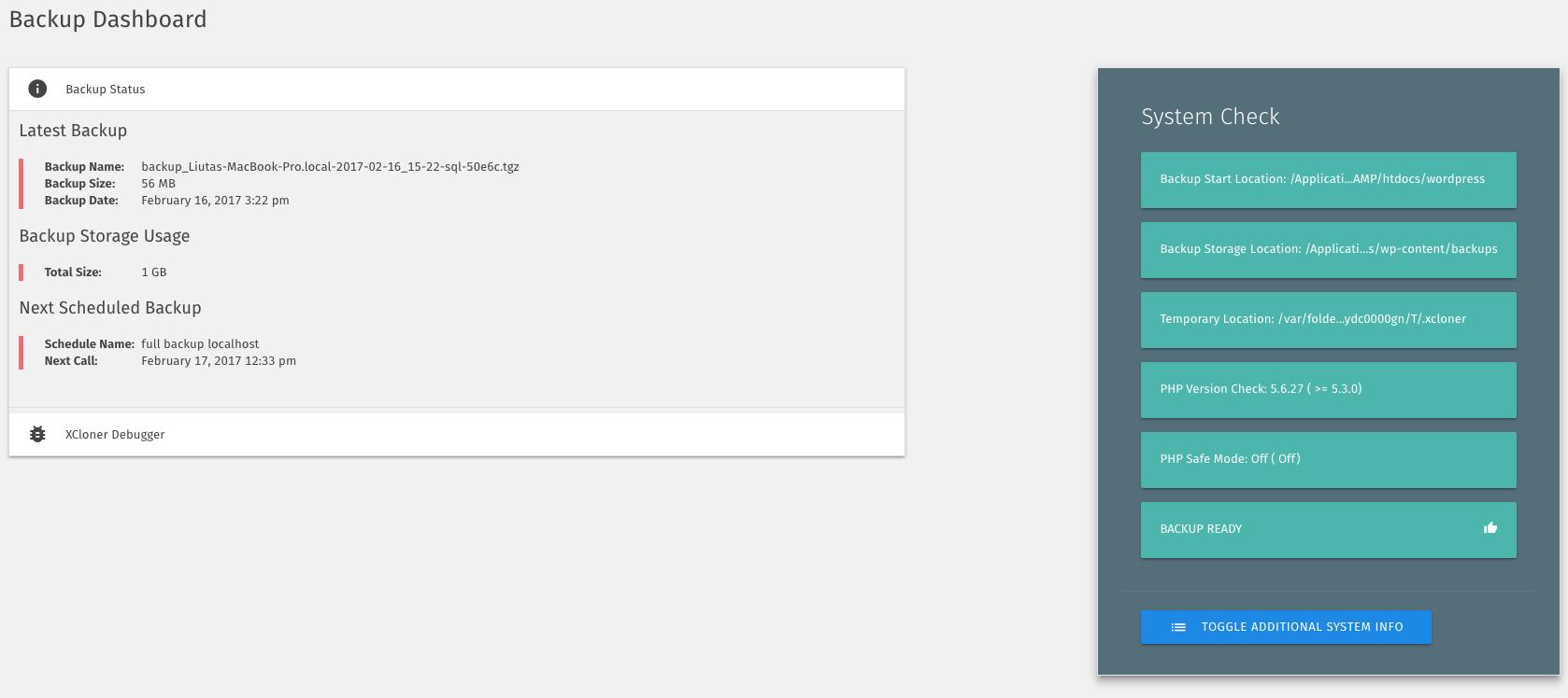 Download XCloner – Backup and Restore 4.0.8 – Free WordPress Plugin