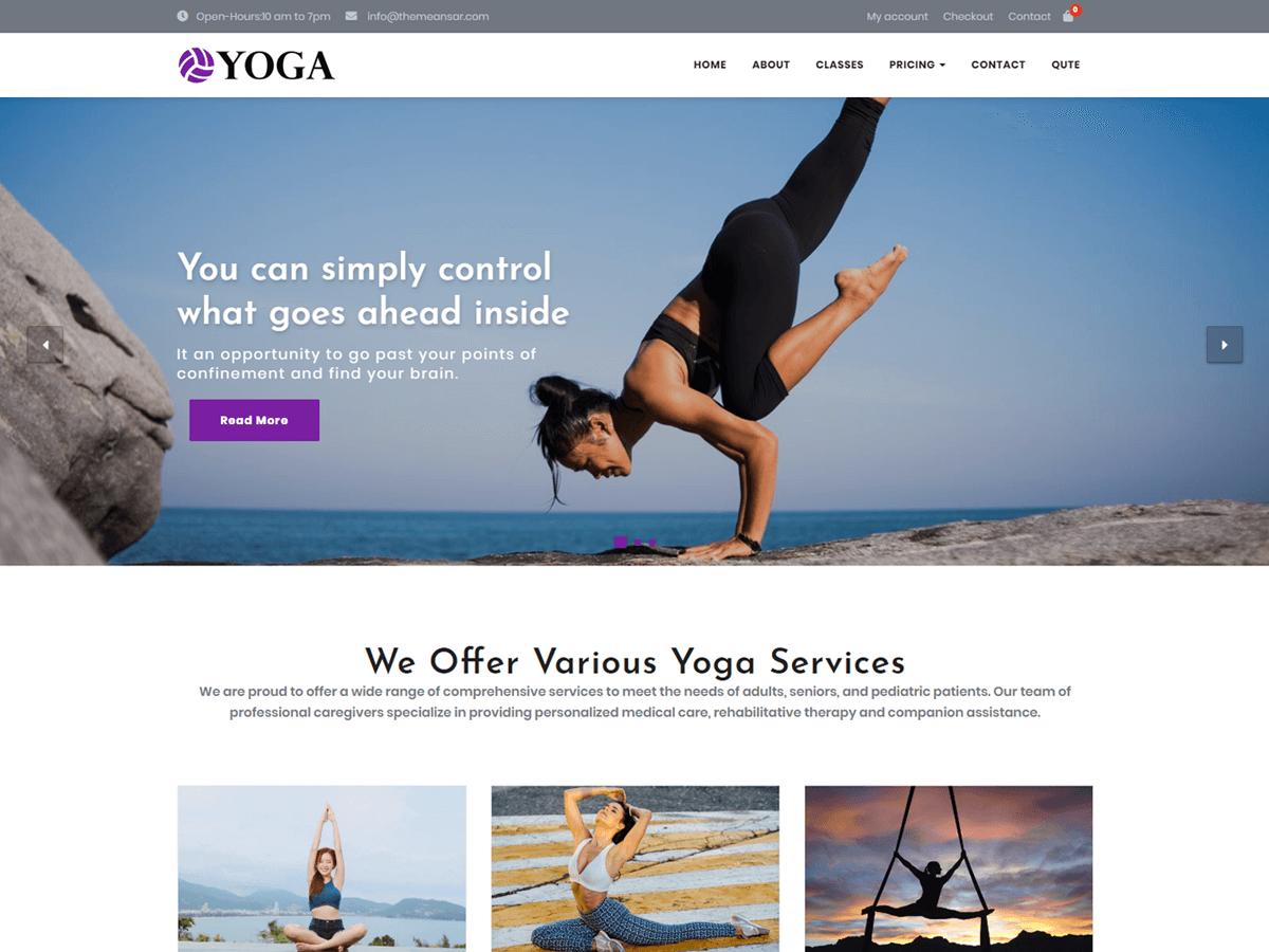 Download Yoga 0.8 – Free WordPress Theme