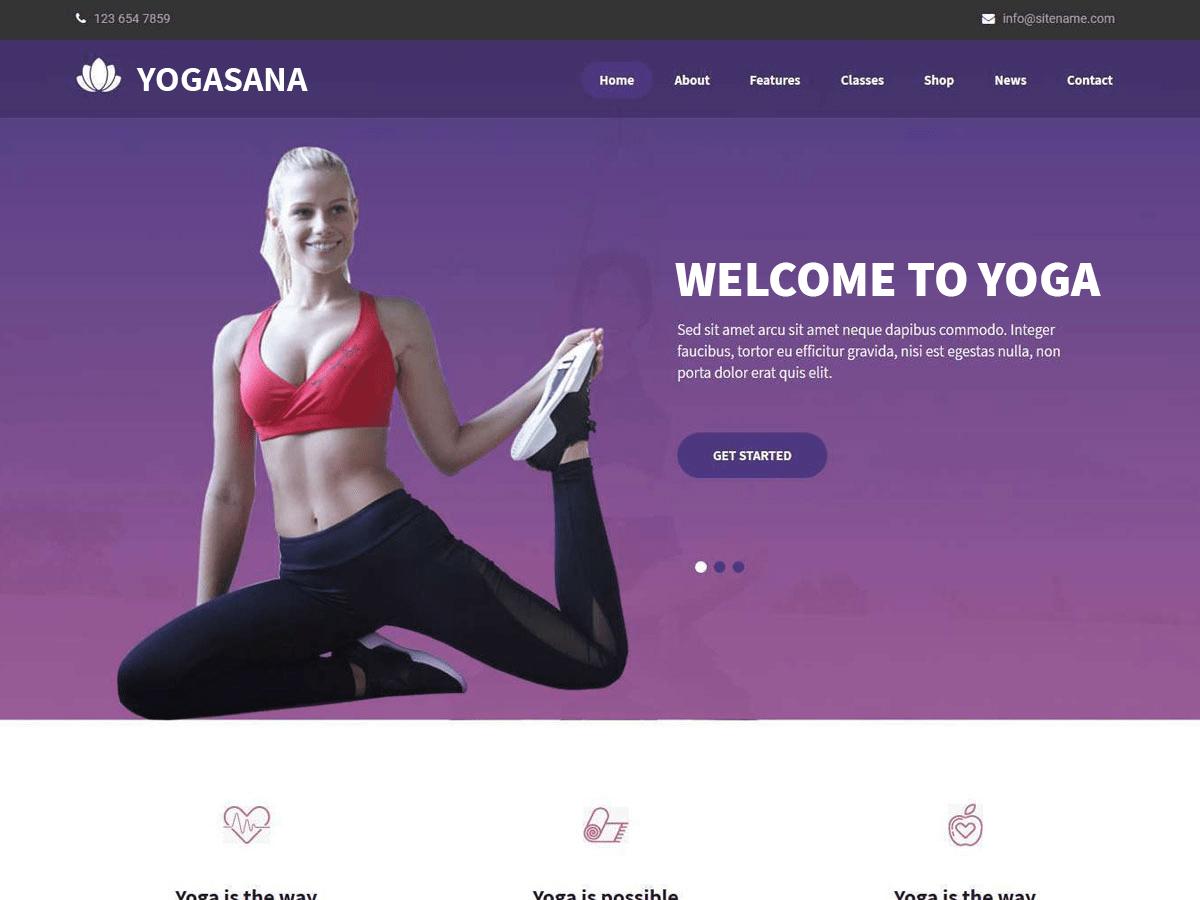 Download Yogasana Lite 1.0 – Free WordPress Theme