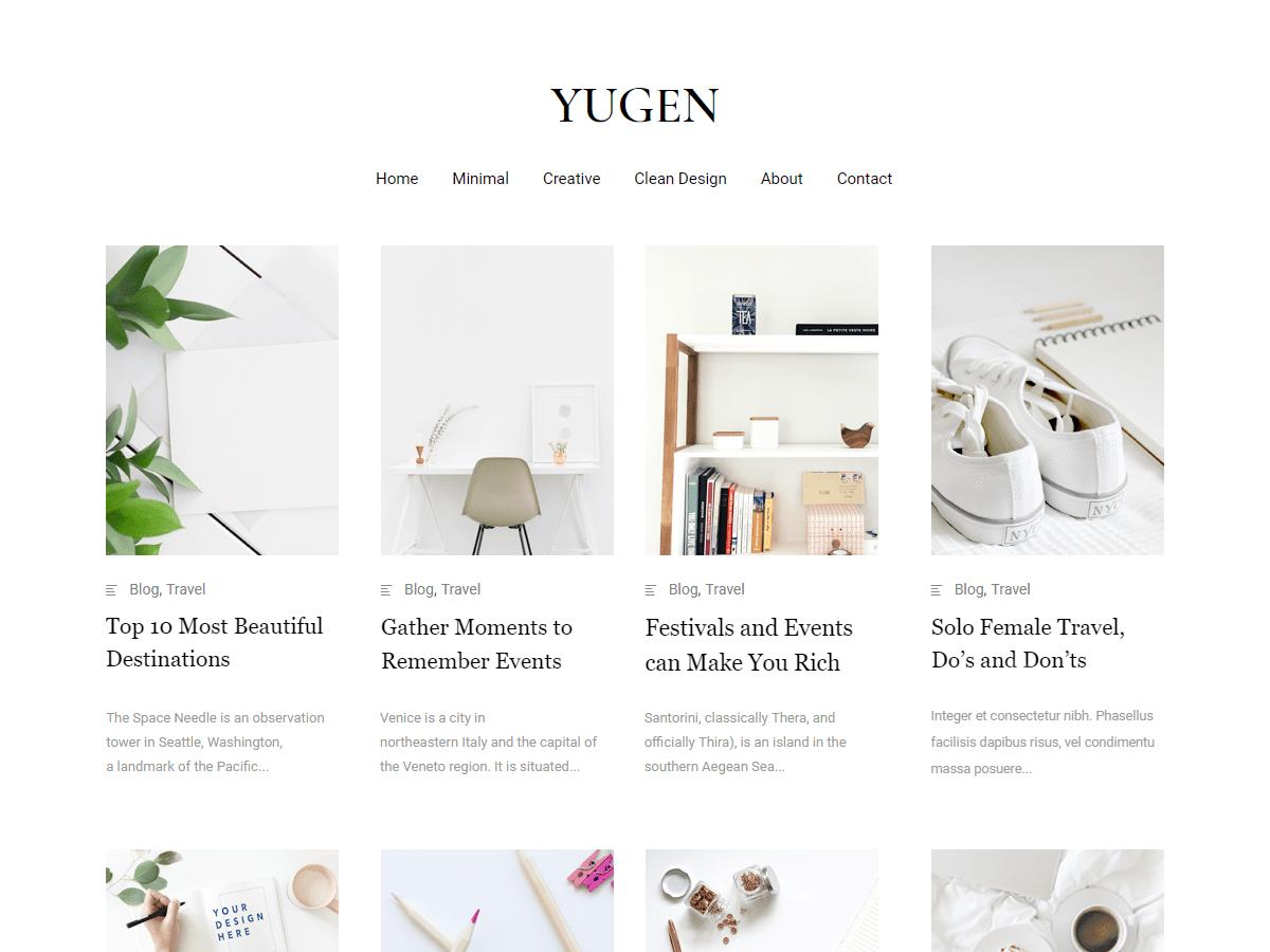 Download Yugen 1.2.2 – Free WordPress Theme