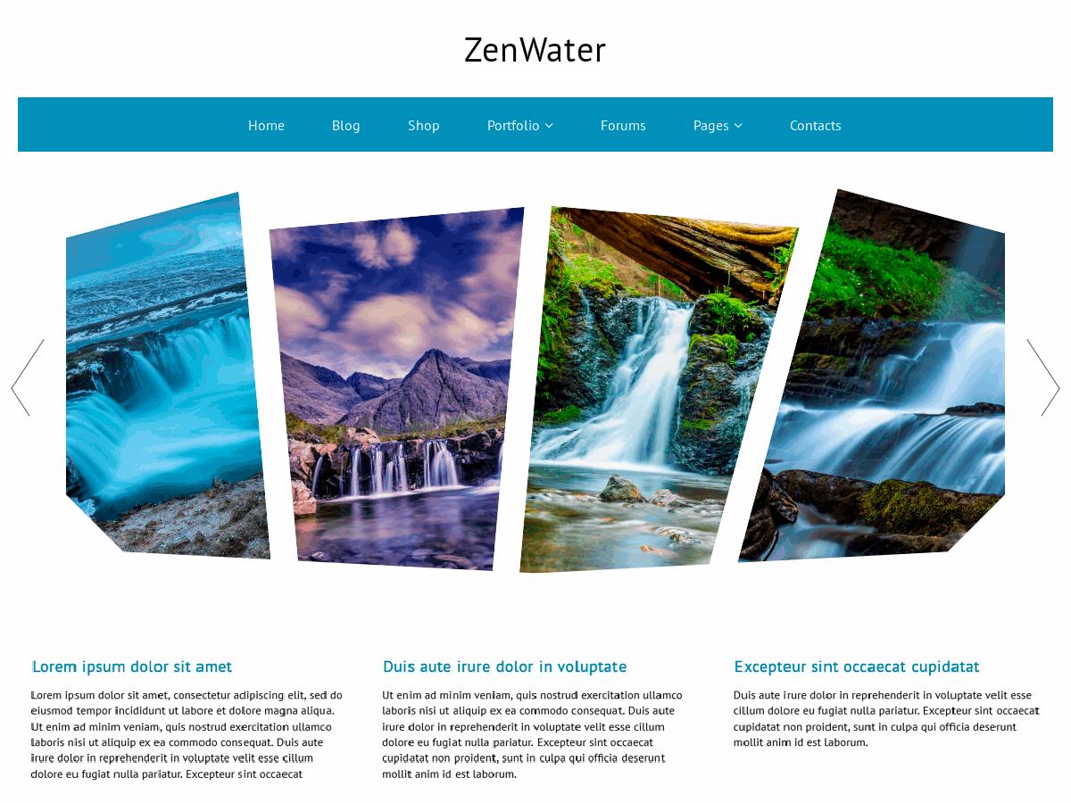 Download ZenWater 1.0.5 – Free WordPress Theme