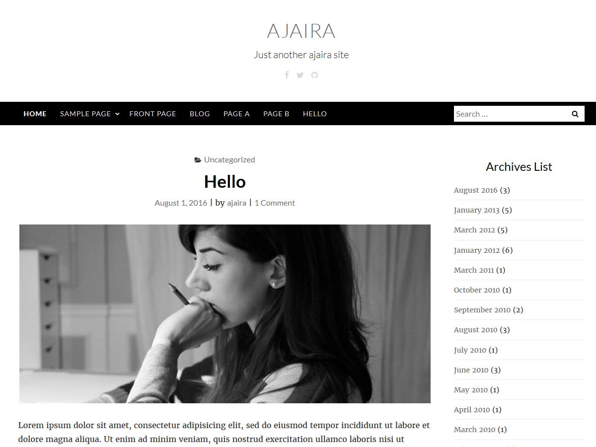 Download ajaira 1.0.3 – Free WordPress Theme
