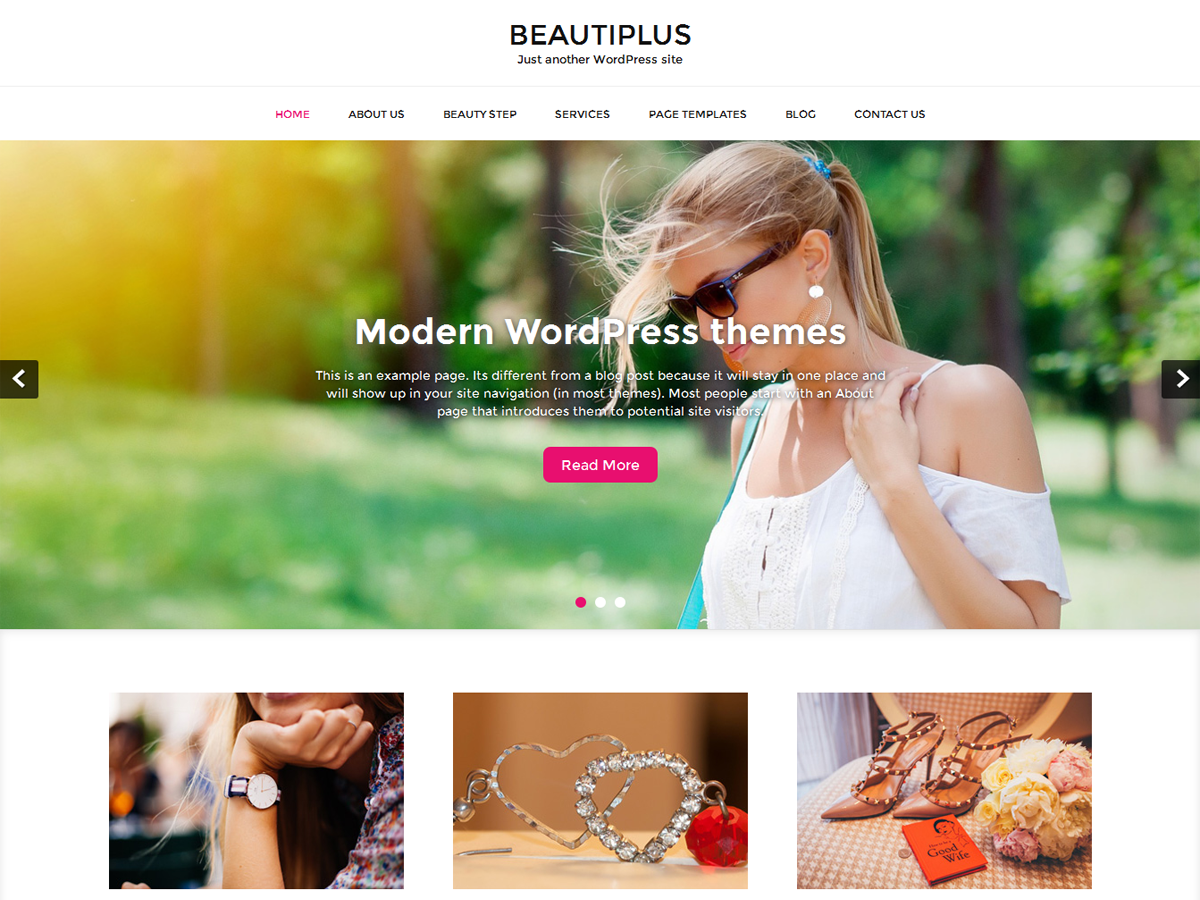 Download beautiplus 1.2.0 – Free WordPress Theme