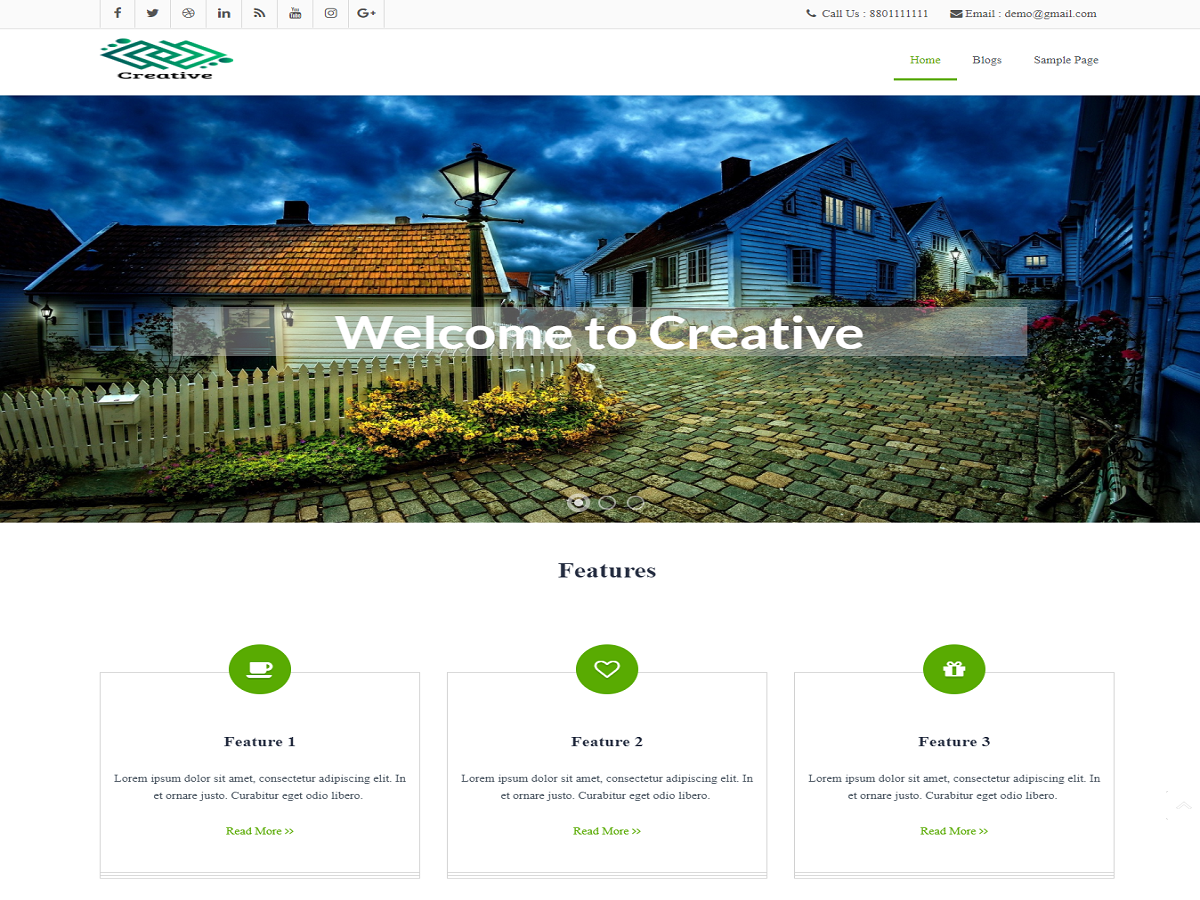 Download creative 2.2 – Free WordPress Theme