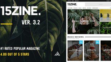 Download 15Zine - HD Magazine / Newspaper WordPress Theme Free
