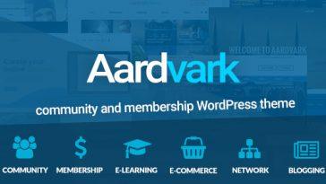 Download Aardvark - BuddyPress, Membership & Community Theme Free