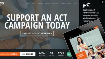 Download Act - Multipurpose Nonprofit Theme Free