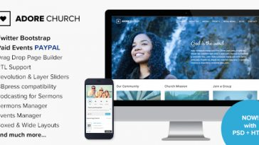 Download Adore Church - Responsive WordPress Theme Free