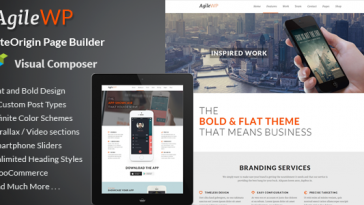 Download Agile - Multi-Purpose App Showcase WordPress Theme Free