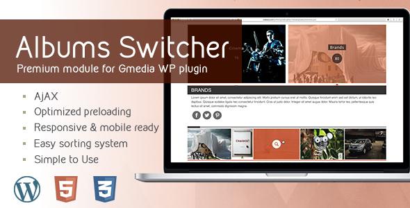 Download AlbumsSwitcher v1.5 Gallery Module for Gmedia plugin - Free Wordpress Plugin