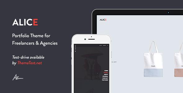 Download Alice - Agency & Freelance Portfolio Theme Free