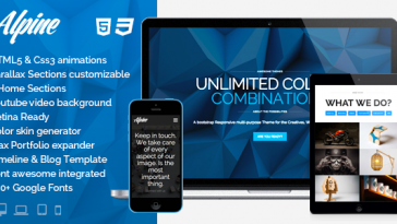Download Alpine v.1.9.8 - WordPress Responsive One Page Parallax Free