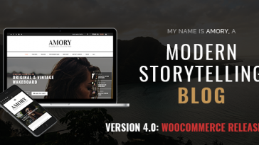 Download Amory Blog - A Responsive WordPress Blog Theme Free