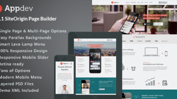 Download Appdev - Mobile App Showcase WordPress Theme Free