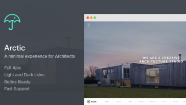 Download Arctic - Architecture & Creatives WordPress Theme Free
