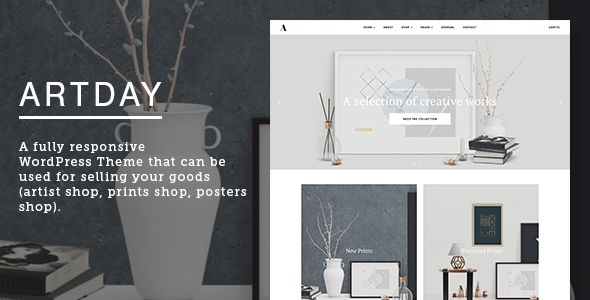 Download Artday v.7.2 - Creative Artist WordPress Shop Free